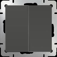 WERKEL Выключатель 2-кл. проходной (серо-коричневый)