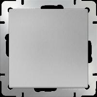 WERKEL Выключатель 1-кл. проходной (серебро)