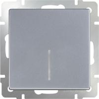 WERKEL Выключатель 1-кл. проходной с подсветкой (серебро)