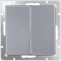 WERKEL Выключатель 2-кл. проходной (серебро)