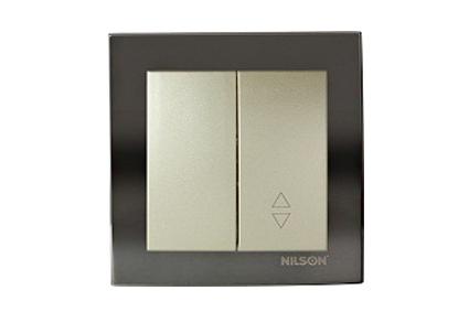 Nilson Touran антрацит механизм выкл. 1кл. с подсветкой