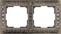 WERKEL ANTIK Рамка на 2 поста (бронза металл)