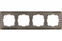 WERKEL ANTIK Рамка на 4 поста (бронза металл)