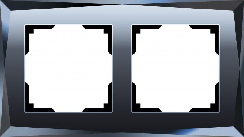 WERKEL DIAMANT Рамка на 2 поста (черный, стекло)