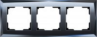 WERKEL DIAMANT Рамка на 3 поста (черный, стекло)