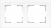 WERKEL FAVORIT Рамка на 2 пост (белый матовый, стекло) WL01-Frame-02