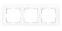 WERKEL FAVORIT Рамка на 3 пост (белый матовый, стекло) WL01-Frame-03