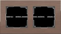 WERKEL Aluminium Рамка на 2 поста (коричневый алюминий)