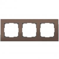 WERKEL Aluminium Рамка на 3 поста (коричневый алюминий)