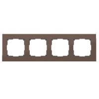 WERKEL Aluminium Рамка на 4 поста (коричневый алюминий)