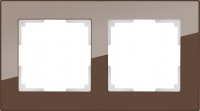 WERKEL FAVORIT Рамка на 2 пост (мокко, стекло)