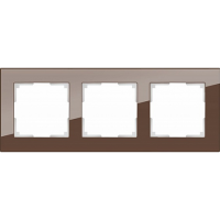 WERKEL FAVORIT Рамка на 3 пост (мокко, стекло)