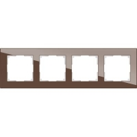 WERKEL FAVORIT Рамка на 4 пост (мокко, стекло)