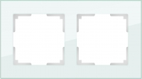 WERKEL FAVORIT Рамка на 2 пост (натуральное стекло) WL01-Frame-02