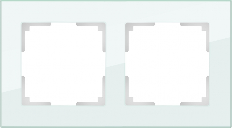 WERKEL FAVORIT Рамка на 2 пост (натуральное стекло)