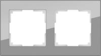 WERKEL FAVORIT Рамка на 2 пост (серый, стекло)