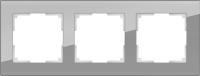 WERKEL FAVORIT Рамка на 3 пост (серый, стекло)