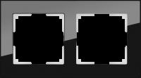 WERKEL FAVORIT Рамка на 2 пост (черный, стекло)