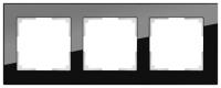 WERKEL FAVORIT Рамка на 3 пост (черный, стекло)