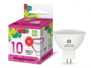Лампа светодиодная MR16 220V_10Вт ASD 6500K  Распродажа!