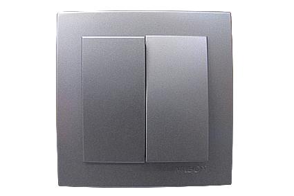 Nilson Touran серебро Выключатель 2кл.