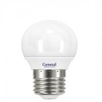 Лампа светодиодная General E27 5Вт шар 6500К 420Лм