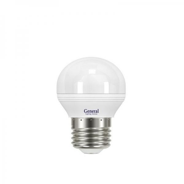 Лампа светодиодная General E27 8Вт шар 2700К 680Лм