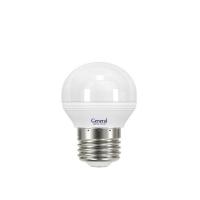 Лампа светодиодная General E27 8Вт шар 6500К 720Лм