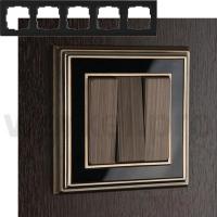 WERKEL Palacio Рамка на 5 постов (бронза/черный)