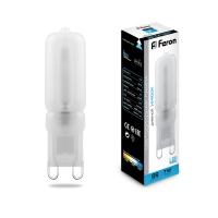 Лампа светодиодная G9 7Вт Feron 6400К