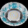 """Св-к Ecola LED LD7071 MR16 """"Розы"""" прозрачный/голубой/хром"""