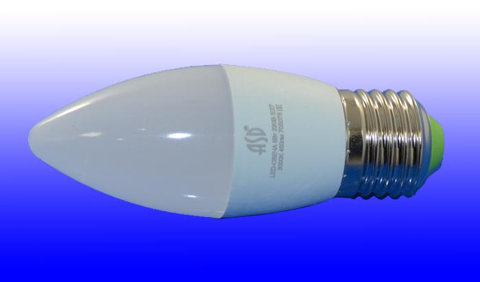 Лампа светодиодная ASD E27  5Вт свеча standard 4000К 450Лм
