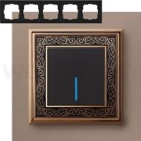 WERKEL Palacio Рамка на 5 поста (золото/черный)