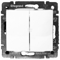 Legrand VALENA белый мех-зм выкл. 2кл. 10А