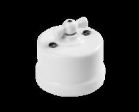 BIRONI белый пластик выкл. 1кл. перекр.