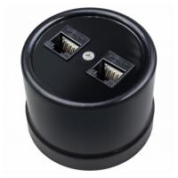 BIRONI черн. пластик розетка телеф.+ комп. RJ11+RJ45