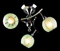 Люстра Евросвет Цветная классика - 3353/3 хром/зеленый
