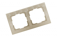 WERKEL FLOCK Рамка на 2 поста (слоновая кость) WL05-Frame-02-white