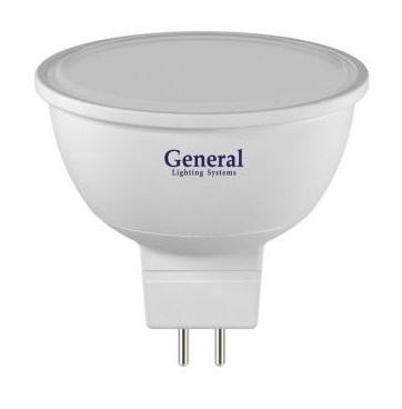 Лампа светодиодная MR16 220V 5Вт General 6500K эконом