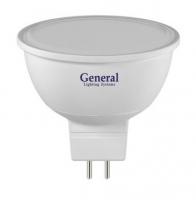 Лампа светодиодная MR16 220V 7Вт General 6500K  Распродажа!