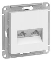 SchE AtlasDesign белый мех-зм розетки комп. 2м. RJ45х2