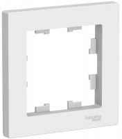 Рамка 1-м Atlas белая