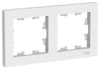 Рамка 2-м Atlas белая