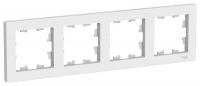 Рамка 4-м Atlas белая