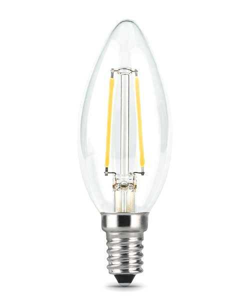 Лампа светодиодная Gauss E14  5Вт Filament candle 4100К 450Лм Распродажа!