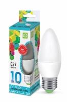 Лампа светодиодная ASD E27  10Вт свеча standard 4000К 900Лм